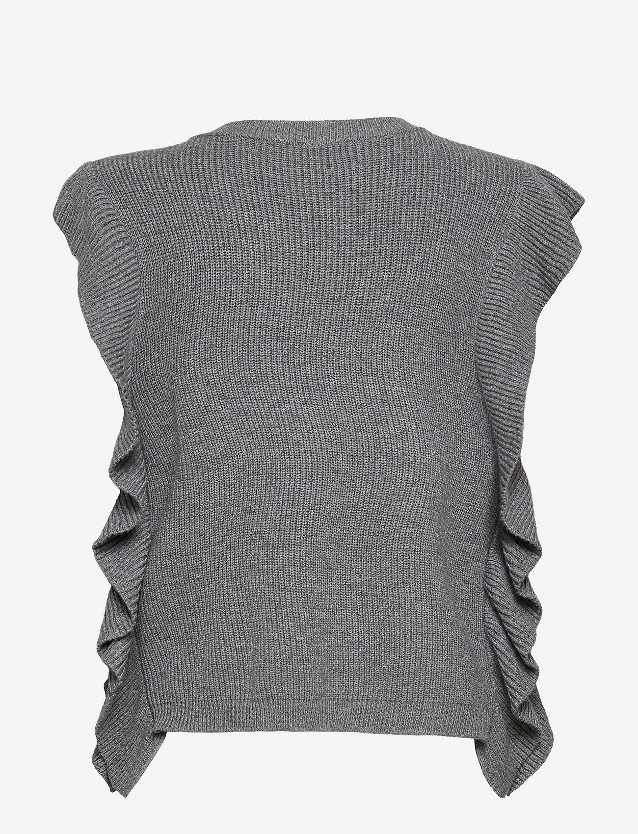 Bruuns Bazaar - Simona Innea knit vest - knitted vests - grey melange - 2