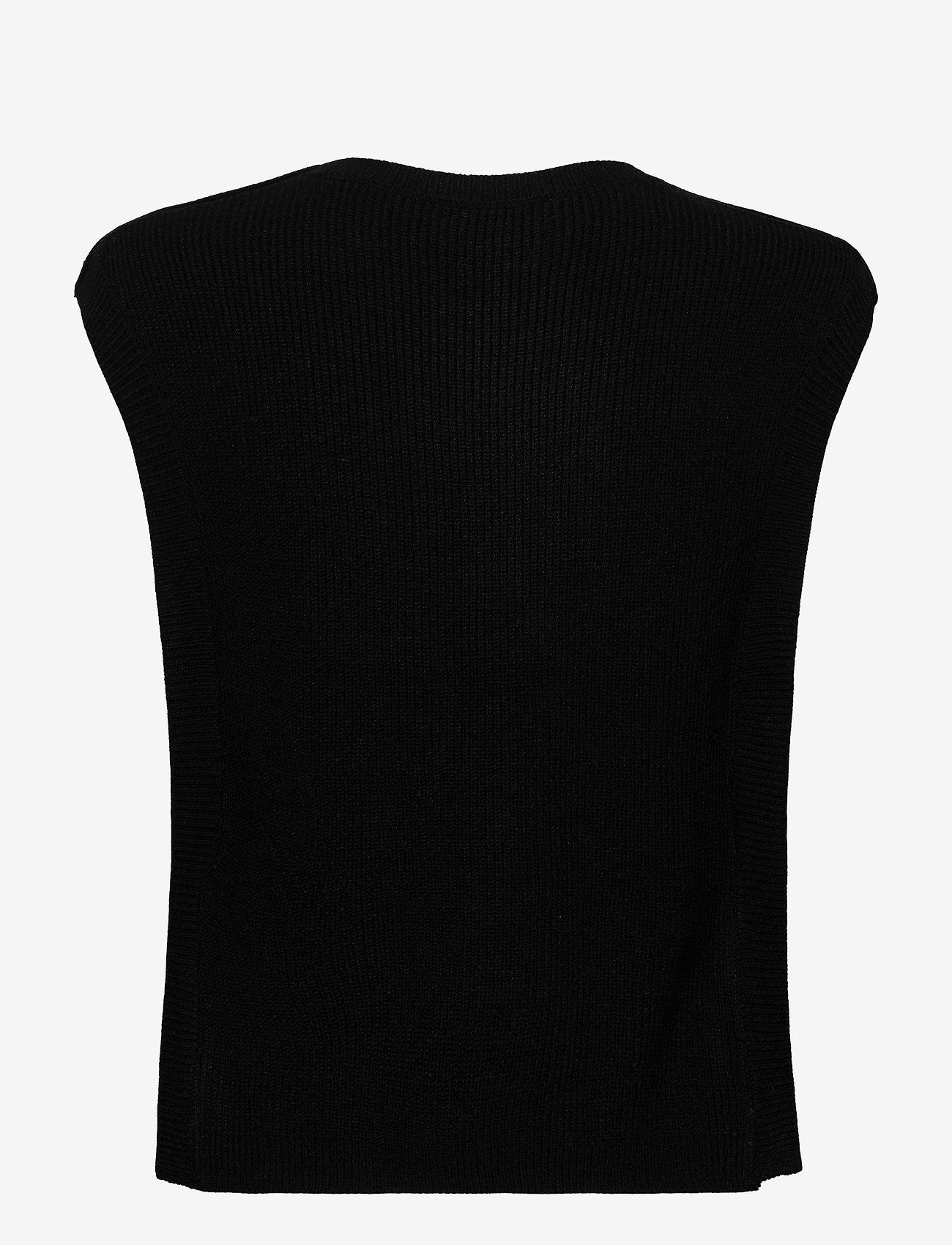 Bruuns Bazaar - Simona Maine knit vest - strikkede toppe - black - 1