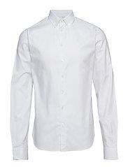 Anthonys NY Stretch Oxford Shirt - WHITE