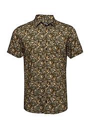 Arthur Shirt - GREEN FLORAL