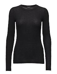 Angela LS T-shirt - BLACK