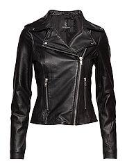 Vanessa Leather Jacket - BLACK