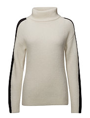 Alma Aura Rollneck - SNOW WHITE WITH BLACK STRIPE