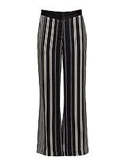 Anna stripe pant - BLACK/WHITE STRIPES