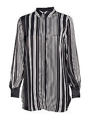 Anna stripe shirt - BLACK/WHITE STRIPES