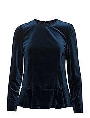 Vera Clara blouse - MIDNIGHT PETROL