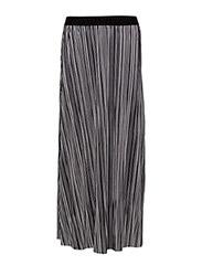 Ophelia Cecilie maxi skirt - BLACK/WHITE