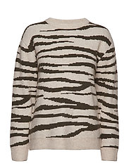 Zena Christina knit - ZEBRA OLIVE TREE/GINGER BEIGE