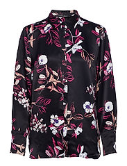 Flora Elvira shirt - BLACK FLORAL AOP