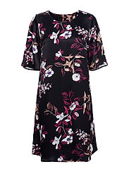 Flora Sealla dress - BLACK FLORAL AOP