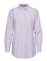 Hollie Felina Shirt - COTTON STRIPES WHITE