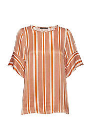 Bruuns Bazaar Lignes Olla Top - BURNT COPPER - LIGNES ARTWORK