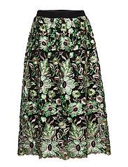 Tullah Palma Skirt - BLACK - EMBRODED MESH