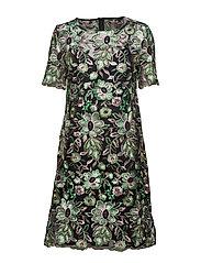 Tullah Celeste Dress - BLACK - EMBRODED MESH