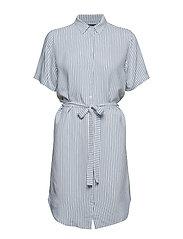 Bertha Nella Shirt Dress - SNOW WHITE WITH BLUE STRIPES