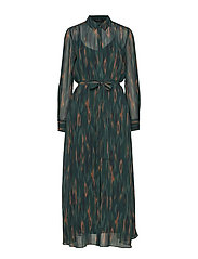 Camou Cora Dress - DEEP FOREST - CAMOU ARTWORK