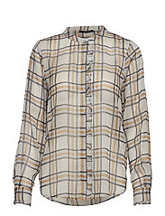 Check Jasmina Shirt - SNOW WHITE CHECK