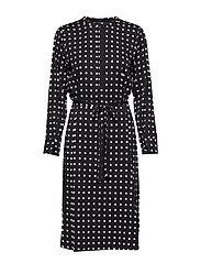 Bonne Carin Dress - BLACK - BONNE ARTWORK