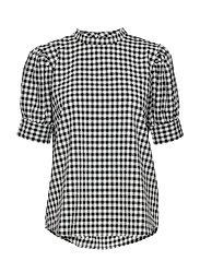 Seer Adelaia blouse - BLACK/WHITE CHECK