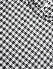 Bruuns Bazaar - Seer Adelaia blouse - bluzki krotkim rekawem - black/white check - 2