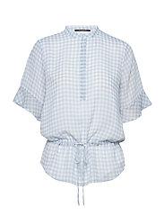 Checks Beatrice shirt - BLUE MIST