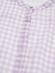 Bruuns Bazaar - Checks Beatrice shirt - kortermede bluser - lavender - 2