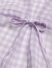 Bruuns Bazaar - Checks Beatrice shirt - kortermede bluser - lavender - 3