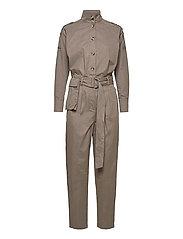 Basil Heath jumpsuit - BUNGEE BROWN