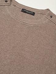 Bruuns Bazaar - Simona Maine knit vest - strikkede toppe - beige melange - 4