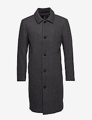Bruuns Bazaar - Aslan Mac Coat - manteaux de laine - grey mel - 0