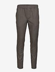 Bruuns Bazaar - Asfred Clark Pant - casual - soil brown check - 0