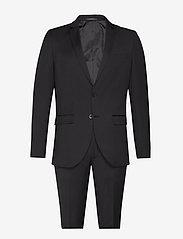 Bruuns Bazaar - Karl Suit - costumes simple boutonnage - black - 0