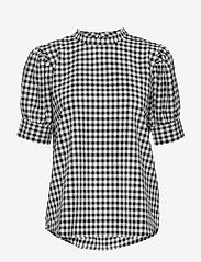 Bruuns Bazaar - Seer Adelaia blouse - bluzki krotkim rekawem - black/white check - 0
