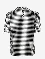 Bruuns Bazaar - Seer Adelaia blouse - bluzki krotkim rekawem - black/white check - 1