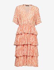 Bruuns Bazaar - Gloss Marin dress BZ - midi jurken - gloss artwork - 0