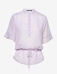 Bruuns Bazaar - Checks Beatrice shirt - kortermede bluser - lavender - 0