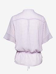 Bruuns Bazaar - Checks Beatrice shirt - kortermede bluser - lavender - 1