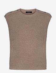 Simona Maine knit vest - BEIGE MELANGE