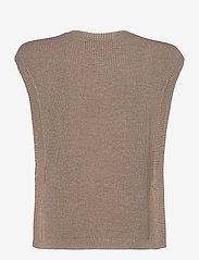 Bruuns Bazaar - Simona Maine knit vest - strikkede toppe - beige melange - 1