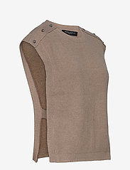 Bruuns Bazaar - Simona Maine knit vest - strikkede toppe - beige melange - 2