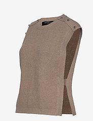 Bruuns Bazaar - Simona Maine knit vest - strikkede toppe - beige melange - 3