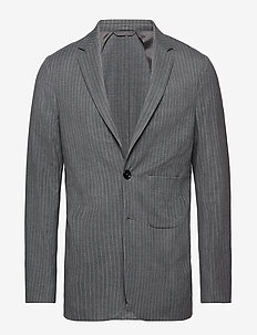 Tommy blazer - costumes simple boutonnage - grey pin stripe