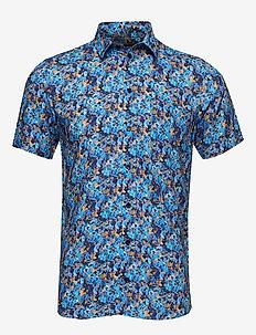 Arthur Shirt - short-sleeved shirts - blue floral