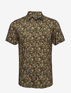 Arthur Shirt - short-sleeved shirts - green floral