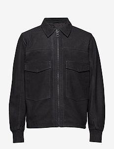 Ben Bomber Suede - leather - black