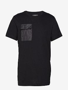 Gustav Utility t-shirt - basic t-shirts - black