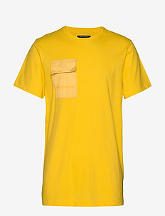 Gustav Utility t-shirt - basic t-shirts - bright yellow