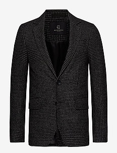 Andrew Karl blazer - blazers à boutonnage simple - black check