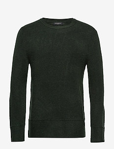 Chris Crew Neck - basic gebreide truien - sage green
