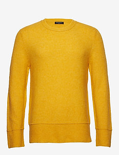 Chris Crew Neck - basic gebreide truien - yellow